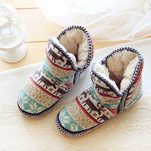Pantofole Da Donna Calde E Accoglienti Con Mollette Scozzesi