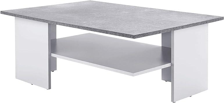 Ks Furniture Table Basse Design 90 X 35 X 60 Cm Cement Blanc