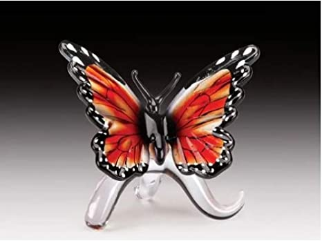 Amazon Com Everspring Import Company Glass Amber Monarch Butterfly Figurine Home Kitchen