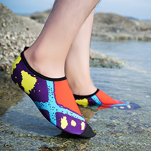 Flexible Shoes Lightweight Multifunctional Breathable Men's Quick Women's Skin Beach Red COSDN Dry Aqua 4IPqxFwF