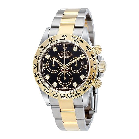 Rolex Cosmograph Daytona negro diamante Dial Acero y 18 K amarillo oro Mens Reloj 116503bkdo: Amazon.es: Relojes