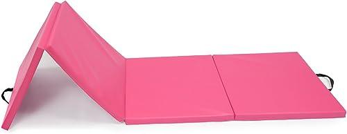 Magshion 2 x2 x8 Pink Folding Panel Gymnastics Tumbling Exercise Gym Sport Fold Yoga Aerobic Mat Pad