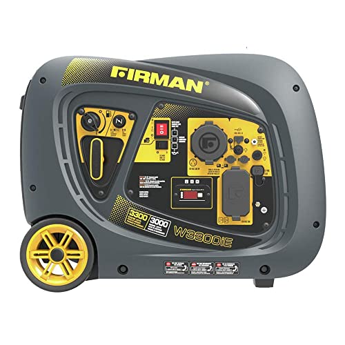 Firman W03082 3300 3000 Watt Electric Start Gas Portable Generator cETL and CARB Certified