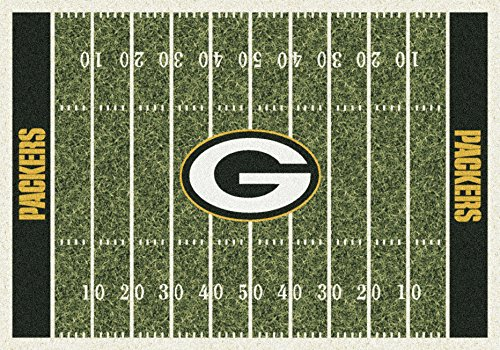 Green Bay Packers NFL Team Home Field Area Rug by Milliken, 5'4