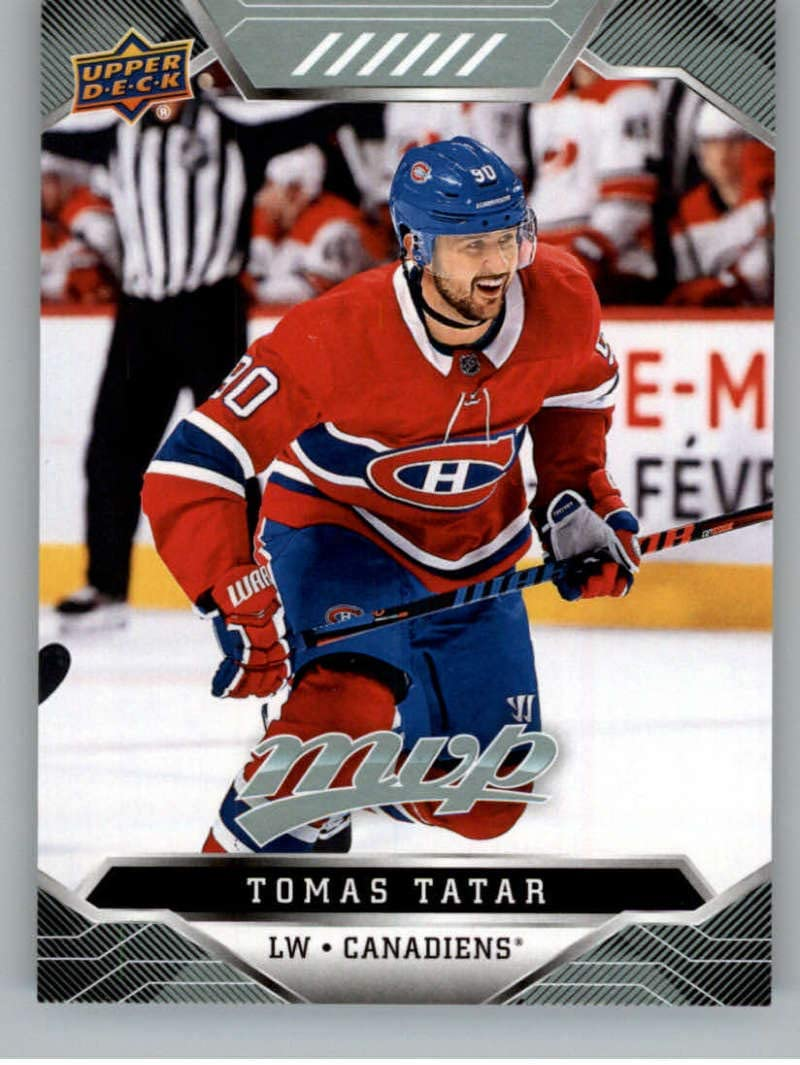 Amazon Com 2019 20 Upper Deck Mvp Hockey 162 Tomas Tatar Montreal Canadiens Official Nhl Trading Card From Ud Collectibles Fine Art