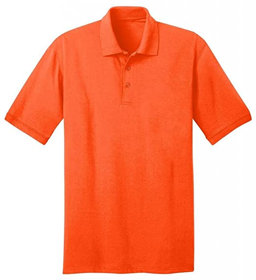 d452cab6 Port & Company 5.5-Ounce Jersey Knit Polo Shirt, XS, Safety Orange ...