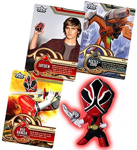 Power Rangers SUPER Samurai 1 Inch PVC Mini Figure /& Trading Card Red Ranger