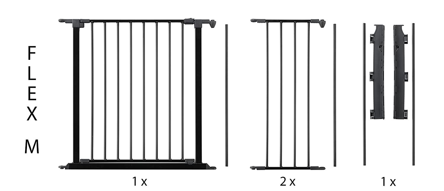 BabyDan Hearth Gate//Room Divider Extra Large, 90-278cm, Anthracite