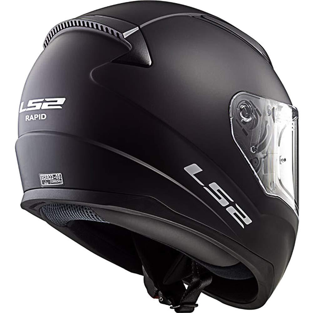 49-50cm Matt Black M LS2 FF353 RAPID MINI Kids Motorcycle Motorbike Full Face Helmet