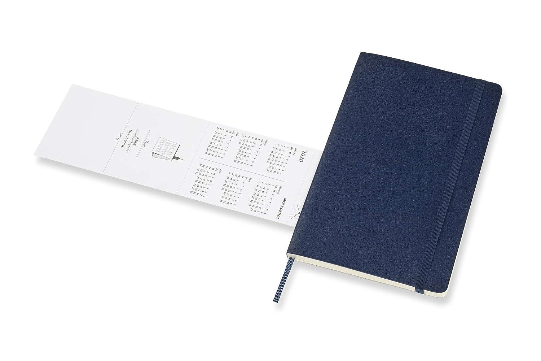 Moleskine 2019-20 Weekly - Agenda Cuaderno Semanal de 18 Meses 2019/2020, Azul Zafiro, Tamaño Grande 13 x 21 cm, 208 Páginas