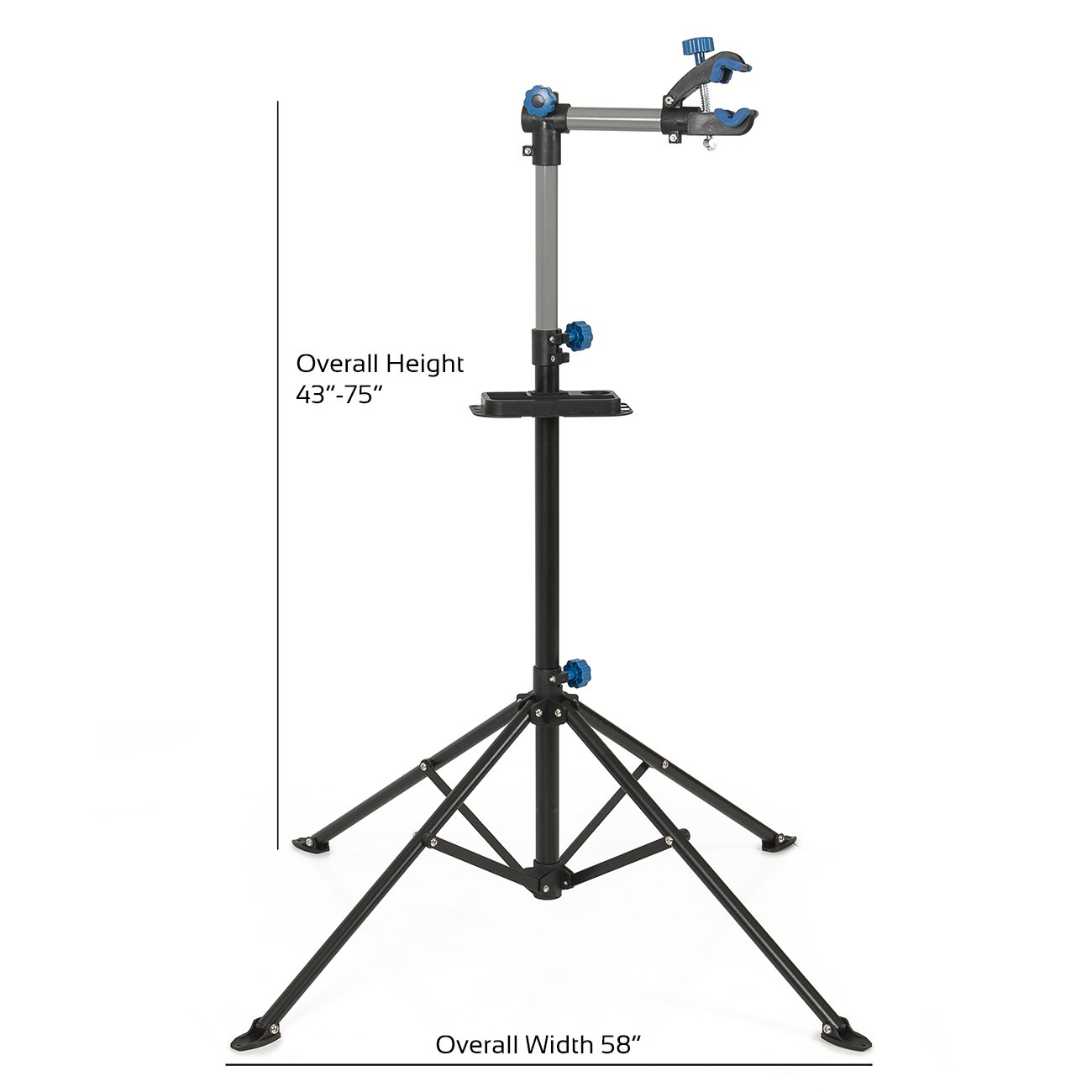 ARKSEN Pro Bike Adjustable 43'' to 75'' Repair Stand w/Telescopic Arm Bicycle Cycle Rack by ARKSEN (Image #2)