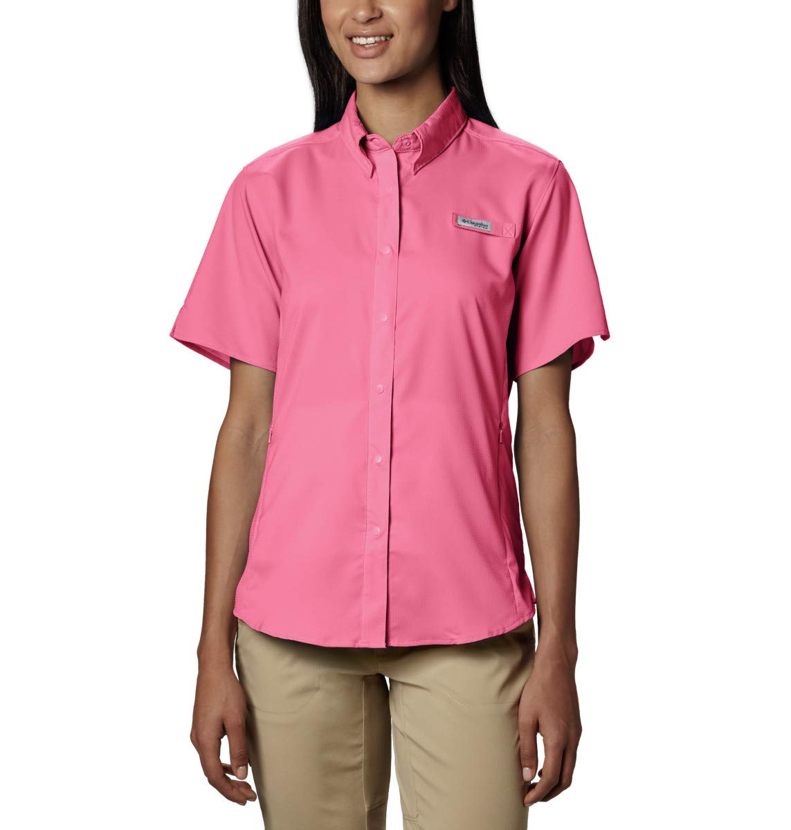 Columbia Women's PFG Tamiami II Short Sleeve Shirt , Lollipop, X-Small by Columbia
