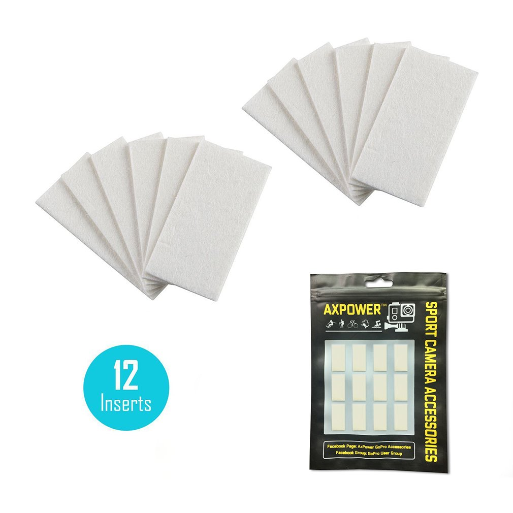 12pcs Axpower Anti Fog Inserts Strips Prevent Origami Nut Spring Pads For Gopro Underwater Housing Case Hero 5 4 3 Xiaomi Sjm Camera Photo