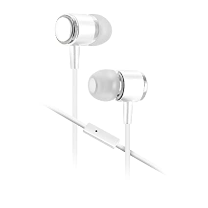 93eb6196a0a Amazon.com: Sentry Gold Pro Metal Earbuds with In-Line Mic & Deluxe Case,  White, H8002: Home Audio & Theater