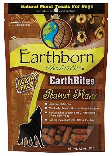 Earthborn Holistic Earthbites Peanut Flavor Grain Free Moist Dog Treats, 7.5 oz
