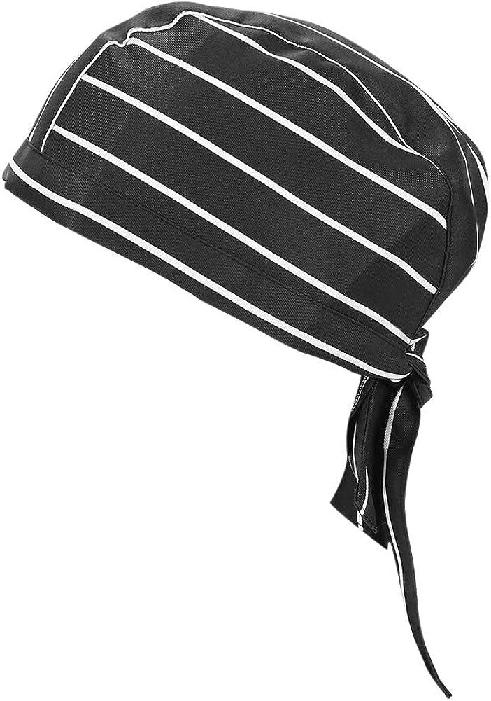 Qchomee Cappelli per adulti Cappelli Cucina Cucinare Ristorante Cappelli da cuoco Uomo Donna Cappellino da cranio a rapida asciugatura Bandana Cappello da lavoro Abbigliamento Cappello da cuoco nero
