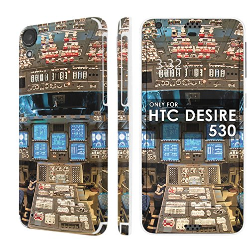 HTC Desire 530 Skin [NakedShield] Scratch Guard Vinyl Skin Decal [Full Body Edge] [Matching WallPaper] - [Space Shutter Cockpit] for HTC Desire - Cockpit Custom