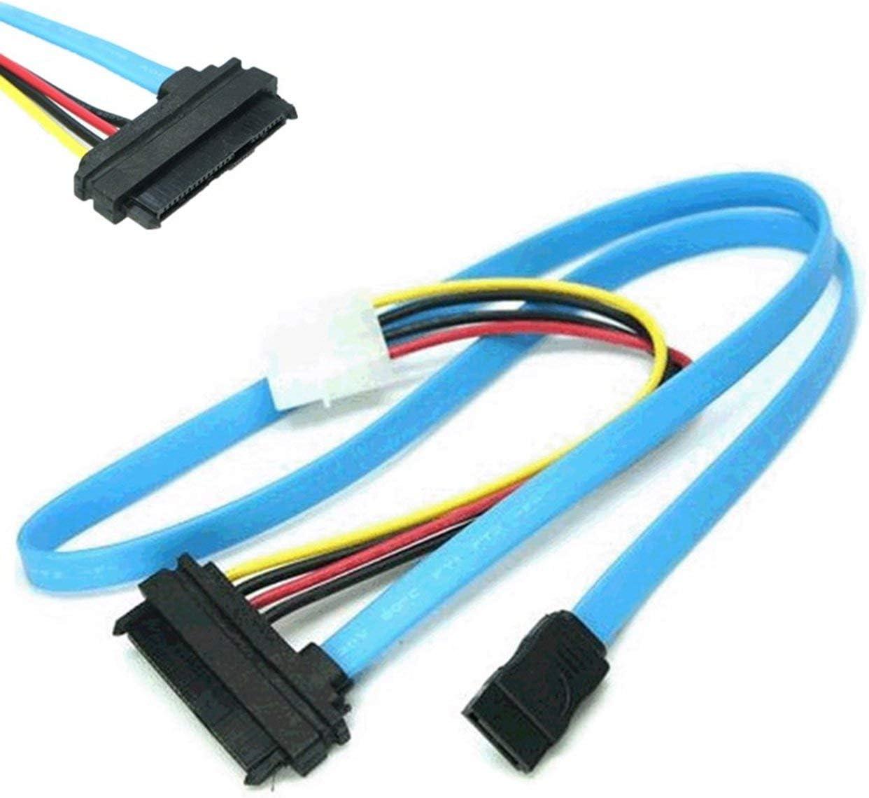 Azul Exquisitamente dise/ñado Durable Nuevo SAS Serial Attached SCSI SFF-8482 a SATA HDD Disco Duro Cable del Cable del Adaptador ESjasnyfall