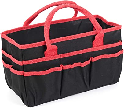 Jjring Fundamental Organizer 600D Nylon Artist Tote Bag,Red Edge