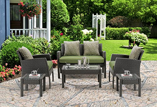 Hanover Chelsea 6-Piece Patio Set Cilantro Green CHEL-6PC-GRN