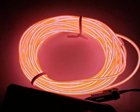 Amazon m best m el wire tube rope battery powered flexible