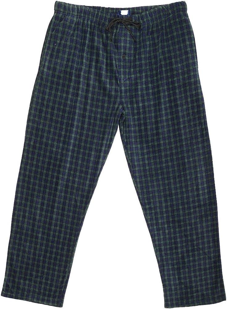 Gr/ö/ße S Garngef/ärbt 3XL Ice Shield Herren Pyjamahose aus weichem Polarfleece
