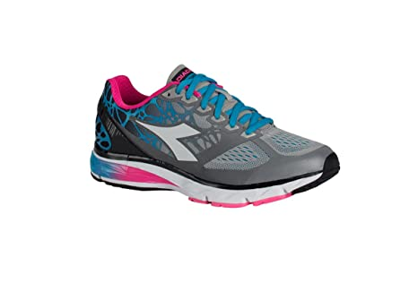Diadora Zapatillas Running Zapatillas Jogging Mujer Mythos blushield Bright W Silverio/White Zapatos, Grigio