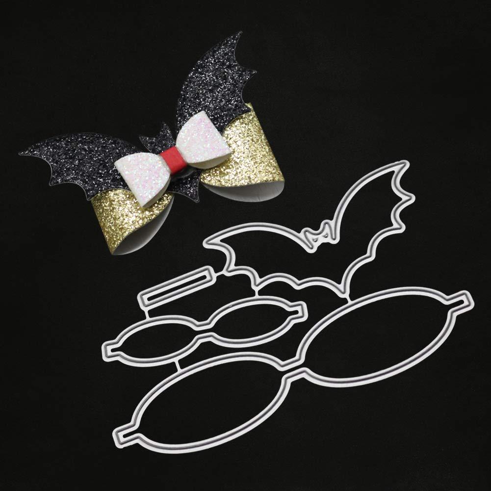 Kuizhiren1 fustella a forma di pipistrello goffratura fustella in metallo fiocco per fai da te stencil scrapbooking