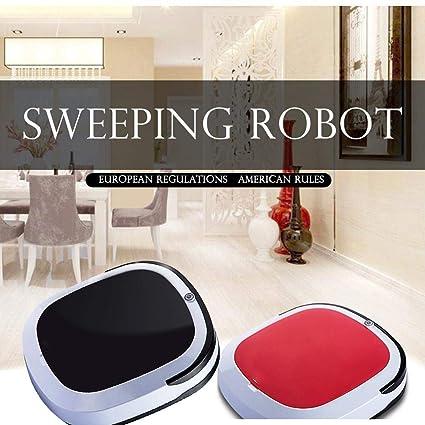 Adolenb Aspirador mini robótico, robot de barrido por inducción automático, limpieza de pisos,