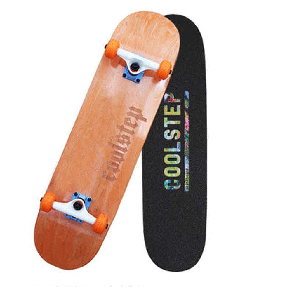 【スーパーセール】 スケートボードプロフェッショナル両側傾斜プレートアクション大人の男の子と女の子初心者ストリートスキルスケートボード (色 : : Orange) B07KW389T1 B07KW389T1 Orange) Orange, LE-Ciel:7bfbde1d --- a0267596.xsph.ru