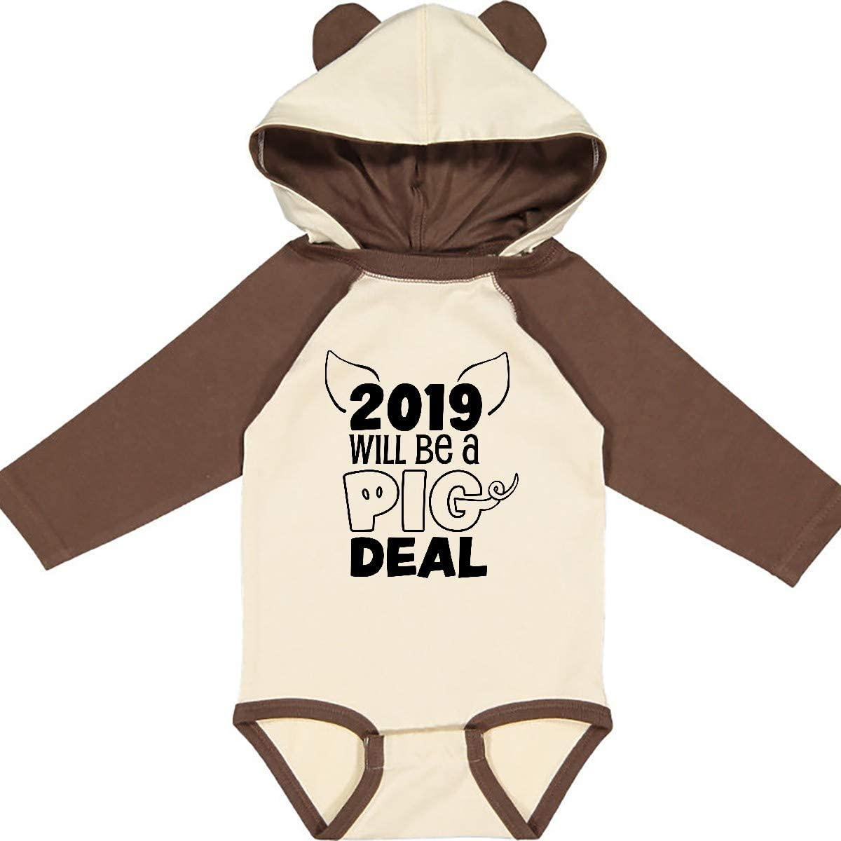 inktastic 2019 Will Be a Pig Deal Funny Year Long Sleeve Creeper