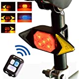 Bike Tail Light USB Rechargeable, Rear Bike Lights with Turn Signals, Super Bright LED Bicycle Rear Warning Light, Wireless