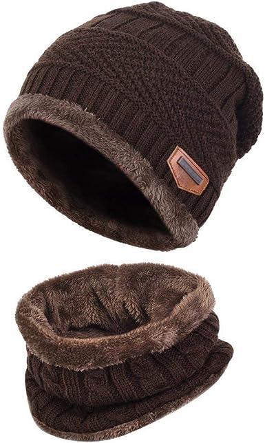 Aisprts Gorro Invierno con Bufanda, Calentar Sombreros Gorras Beanie de Punto Para Hombre Mujer (Café): Amazon.es: Ropa y accesorios