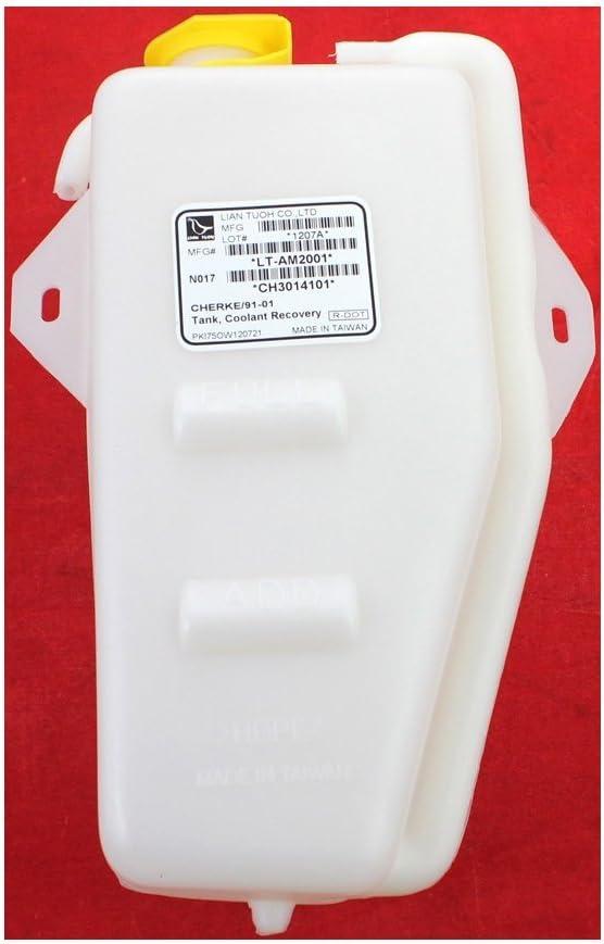 Coolant Reservoir Expansion Tank compatible with Cherokee 91-01 Comanche 91-92 Plastic w//cap