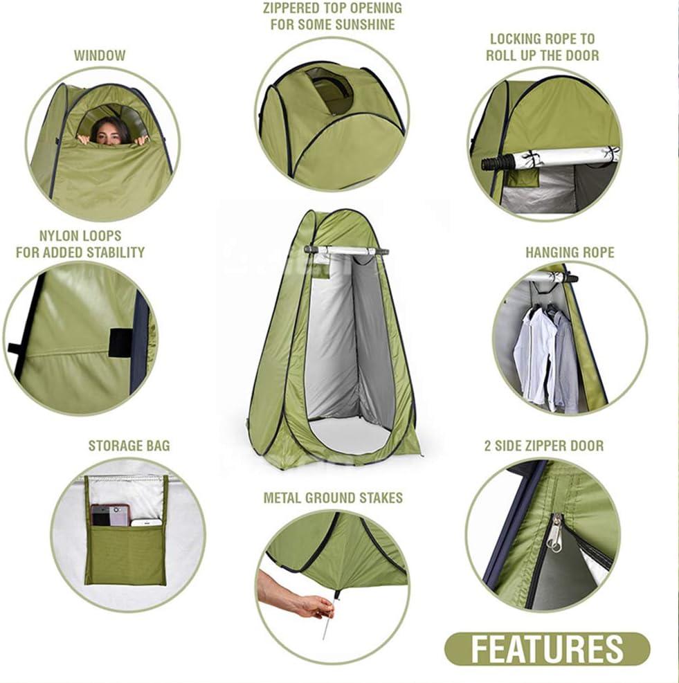 Anlem - Tienda de campaña privada plegable para ducha al aire libre, cambiar, vestir, pesca, cuarto de baño, almacenamiento portátil con bolsa de transporte azul