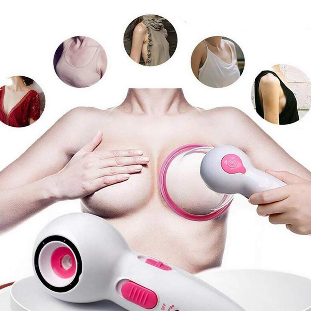 Couples Sex Toys Electric Breast Enhancement Enlargement Massager Infra Heating Therapy Vacuum Pump Cup Chest Massage AntiCellulite Machine,L by YuanZZ