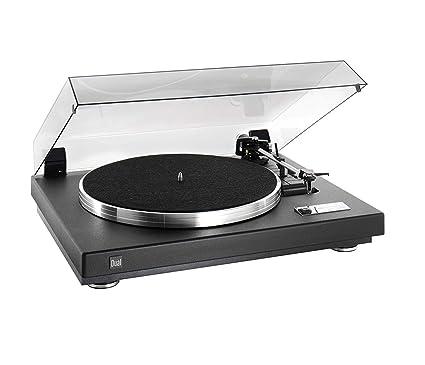Dual CS 460 Tocadiscos estructura barniz negro/plata: Amazon ...