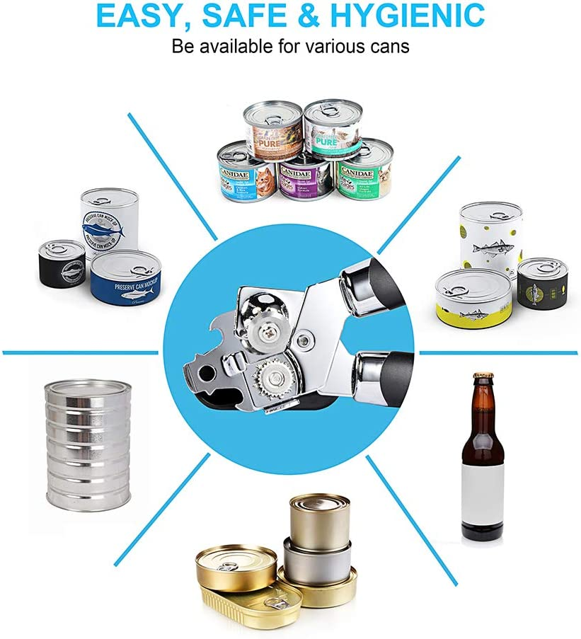 Non-electric Stainless Steel Jar Openers Portable Tin Bottle ...