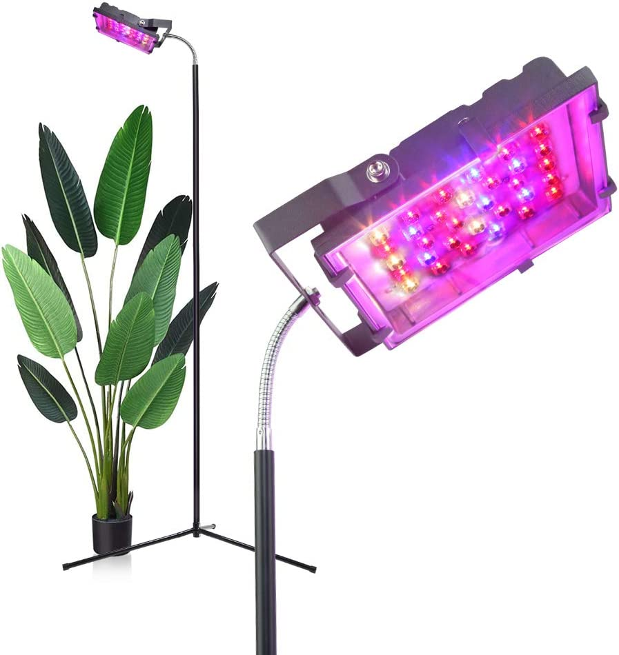 Dommia LED Floor Lamp Growing Lamp with Red Blue Spectrum, 35W Floor Stand Plant Light,Growing Lamp for Hydroponics,Greenhouses,Grow Tent, Flower&Vegetable
