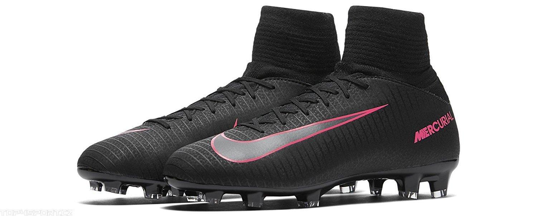 f0c76e66466f Nike Jr Mercurial Superfly V FG Black/Black/Pink Blast Shoes - 5Y