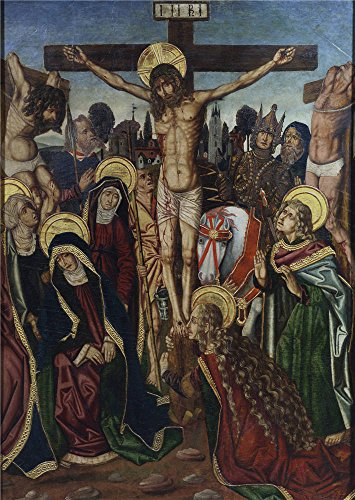 'Bernat Martin La Crucifixion Ca. 1480 ' Oil Painting, 30 X 42 Inch / 76 X 107 Cm ,printed On Polyster Canvas ,this Vivid Art Decorative Prints On Canvas Is Perfectly Suitalbe For Bathroom Artwork And Home Artwork And Gifts