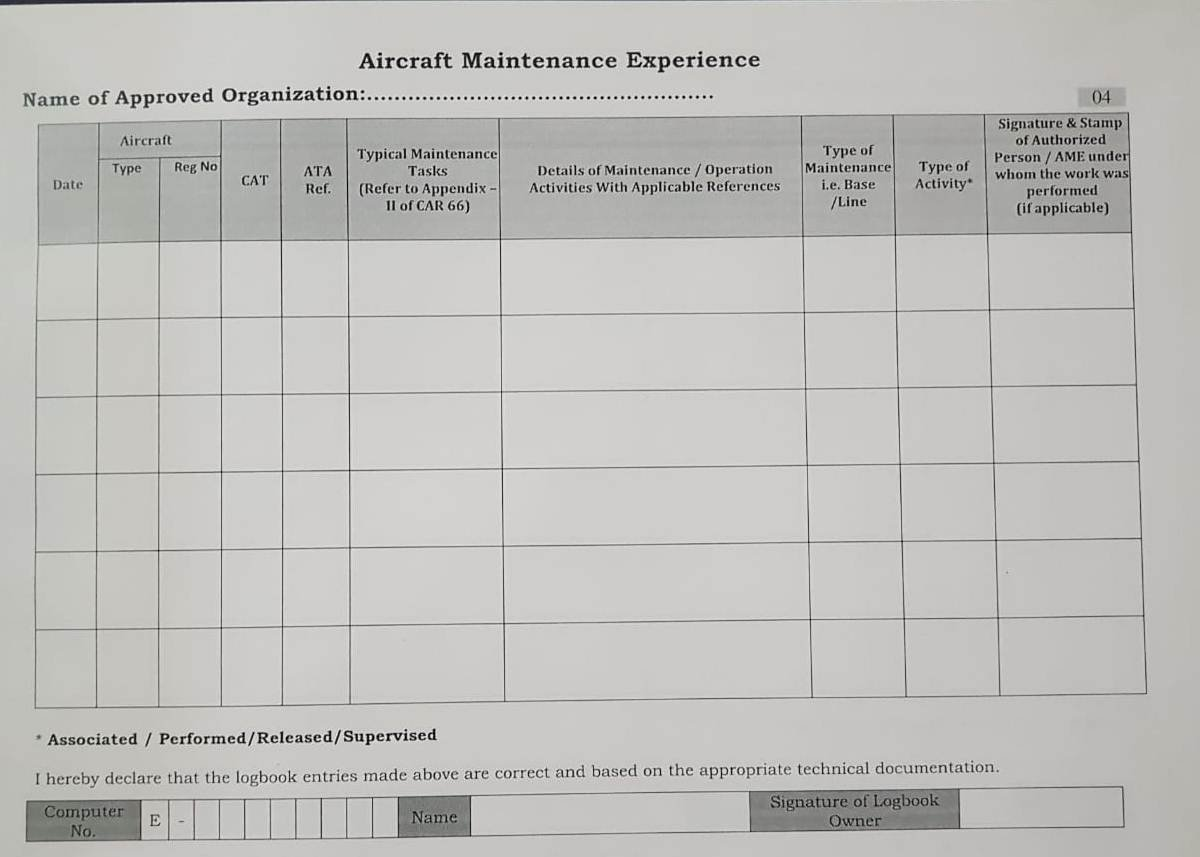 a347908d4ed Part 66 AME Logbook  Amazon.in  Industrial   Scientific