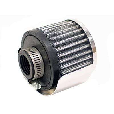 K&N Vent Air Filter/ Breather: High Performance, Premium, Washable, Replacement Engine Filter: Flange Diameter: 1 In, Filter Height: 2.5 In, Flange Length: 0.625 In, Shape: Breather, 62-1511: Automotive