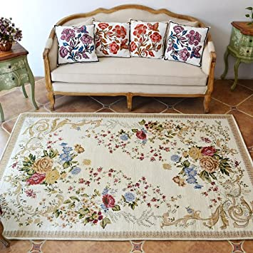 DIAIDI Rustic Area Rugs Vintage Shabby Traditional RugsFloral RugsCarpet Floral Print