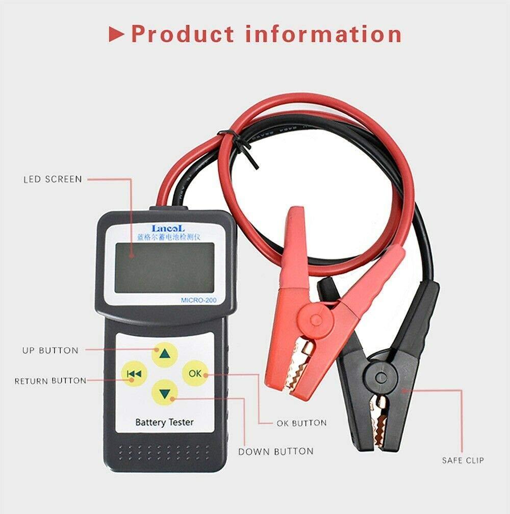 SODIAL Automotive Battery Tester 12V Battery and Alternator Analyzer Micro-200