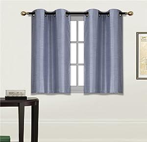 GorgeousHome (N25) 2 Small Grommets Panels Window Curtain Semi Sheer Drape Treatment Size 30
