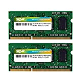 Silicon Power 8GB Kit (4GBx2) DDR3/DDR3L 1600 MT/S (PC3-12800) Unbuffered SODIMM 204-Pin Memory