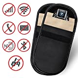 SHISHUO Car Key Signal Blocker - 2 Pack WIFI/GSM/LTE/NFC/RFID/Keyless Entry Fob Signal Blocking Case Credit Card Protector Pouch, Antitheft Cell Phone Privacy Protection