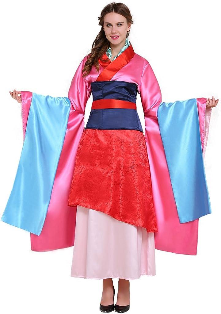 Amazon Com Cosplaydiy Women S Chinese Hua Mulan Costume Dress Set Cosplay Clothing
