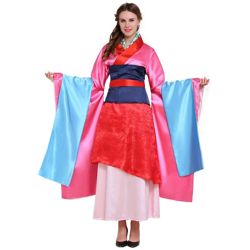 Cosplayitem Women Girls Ancient Kimono Costume Cosplay Long Dress Corset Dress Set Small Plus Size Multicolor